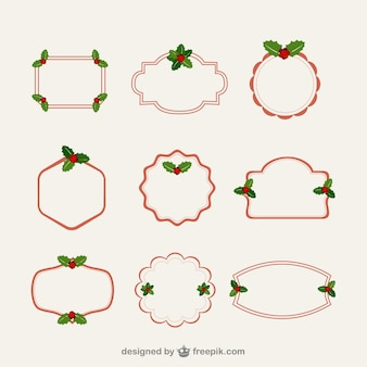 Minimalist Christmas frames