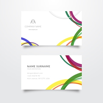Minimalist colorful business card template