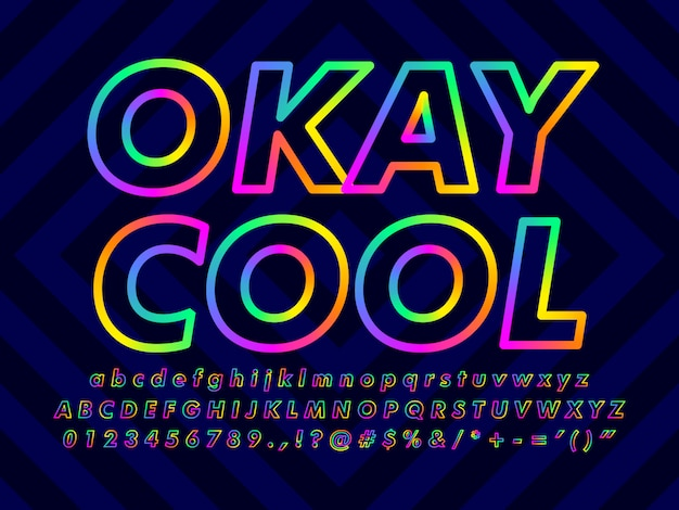 Minimalist colorful text effect