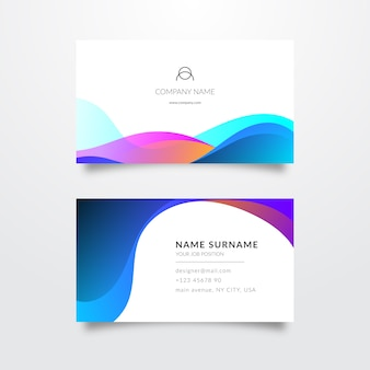 Minimalist colourful business card template