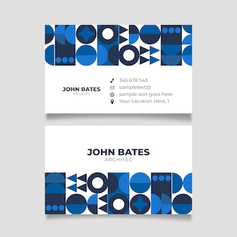 Minimalist company card with classic blue shapes