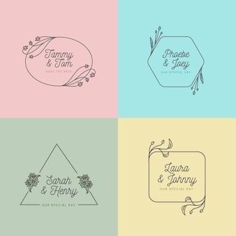 Minimalist concept for wedding monograms concept