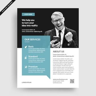 Minimalist corporate business flyer template