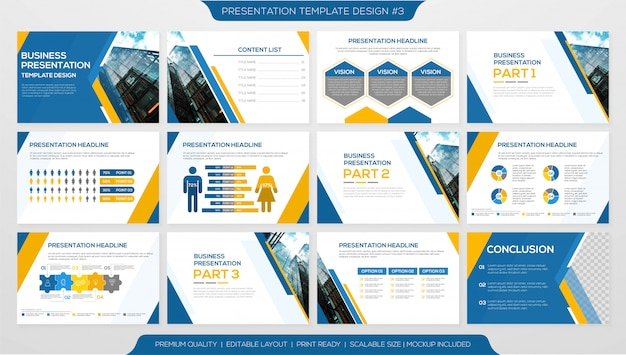 Minimalist corporate presentation template