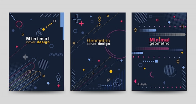 Minimalist cover collection with geometric