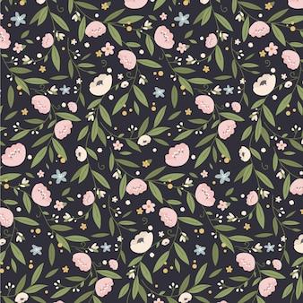 Minimalist cute floral pattern