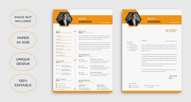 Minimalist cv and letterhead template design