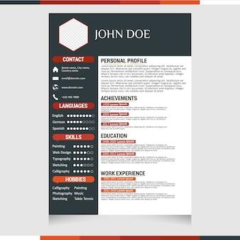 Minimalist cv / resume template