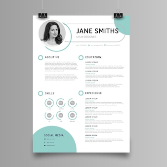 Minimalist cv template with details