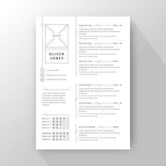 Modello di cv minimalista