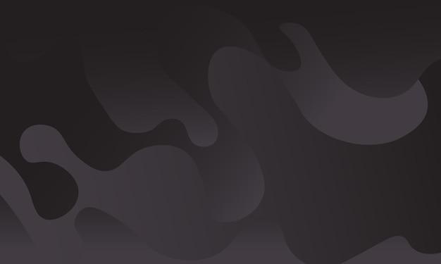Минималистский темный градиент волны фон векторные иллюстрации