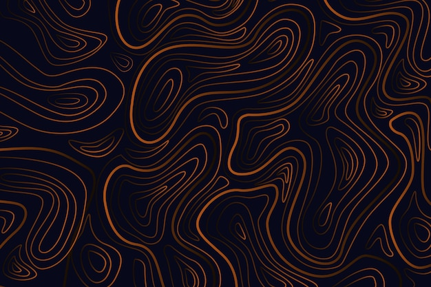Minimalist dark topographic map background