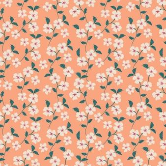 ミニマリストの頭が変な花のシームレスなパターン