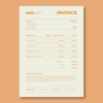 Минималистичный двухцветный счет-фактура renet hr consulting