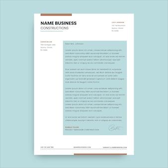 Минималистское двухцветное строительное письмо сары