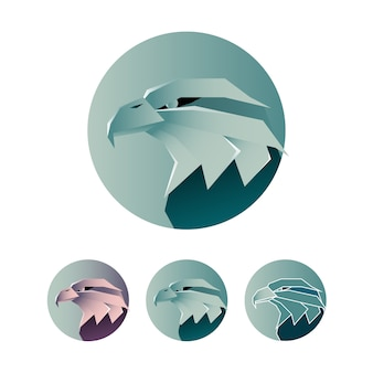 Minimalist eagle logo