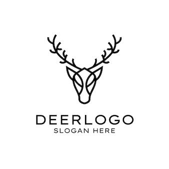 Minimalist elegant deer logo