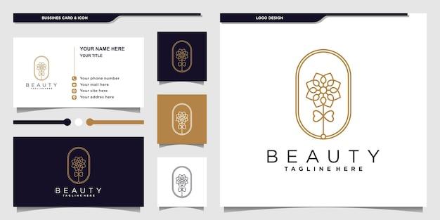 Minimalist elegant floral rose logo design for beauty salon and business card premium vector