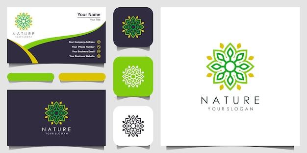 Минималистичный элегантный дизайн логотипа с цветочной розой для красоты косметика, йога и спа