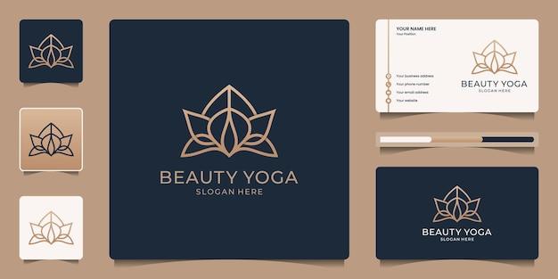 Минималистичный элегантный цветок розы логотип красота и визитная карточка