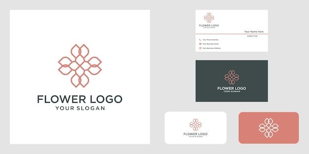 Minimalist elegant  flower rose logo design for beauty cosmetics yoga and spa