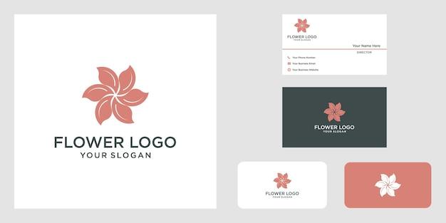 Минималистичный элегантный дизайн логотипа с цветочной розой для косметики, йоги и спа