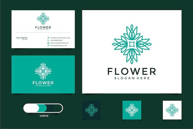Минималистичный элегантный цветок розы роскошный салон красоты, мода, уход за кожей и визитная карточка