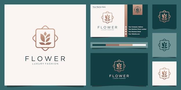 Минималистичный элегантный цветок розы роскошный салон красоты, мода, уход за кожей, косметика, йога и спа-товары
