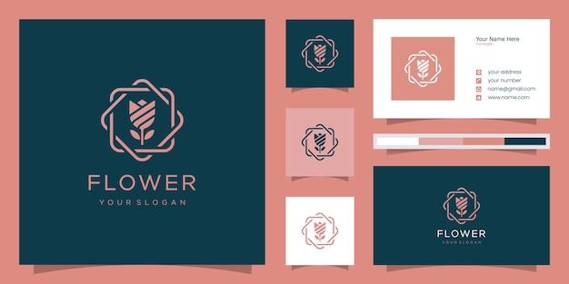 Минималистичный элегантный цветок розы роскошный салон красоты, мода, уход за кожей, косметика, йога и спа-товары.