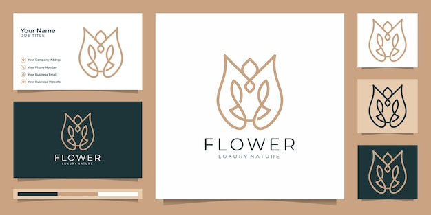 Minimalist elegant flower rose luxury beauty salon, fashion, skincare