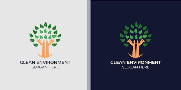ミニマリストのエレガントで健康的な環境のロゴ