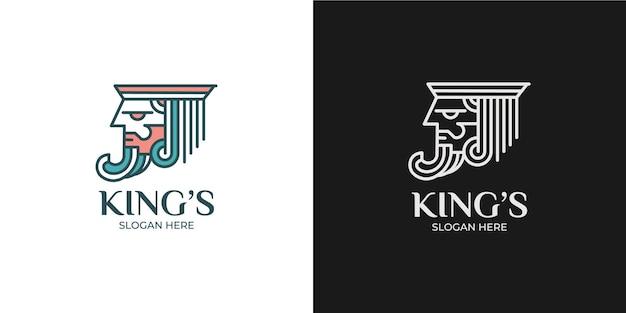 Minimalist and elegant king logo set