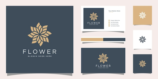 Минималистичный элегантный шаблон логотипа и дизайн визитной карточки.