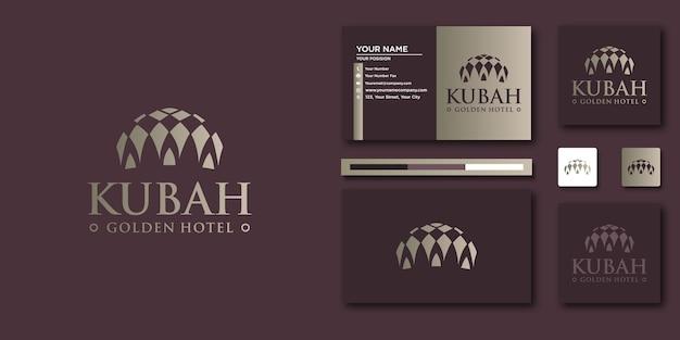 ミニマリストのエレガントな高級ロゴ。ロゴと名刺のデザインのための豪華な要約