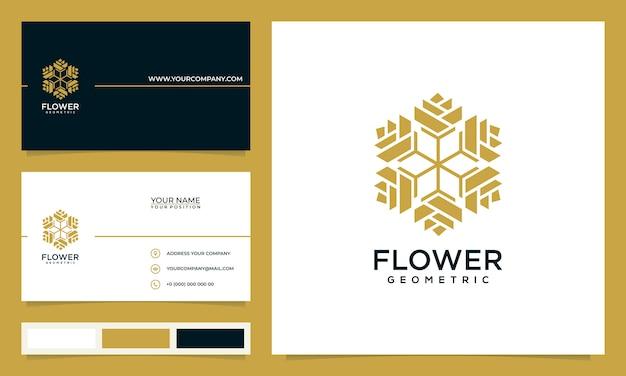 サロン、スパ、スキンケア、ブティック向けのシンプルでエレガントなモダンな花のロゴデザインのインスピレーション、名刺付き
