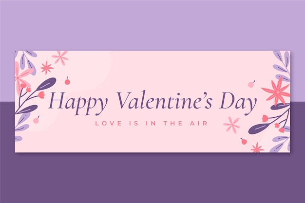 Minimalist facebook cover valentine's day template
