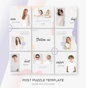 Minimalist fashion sale banner template for media social feed