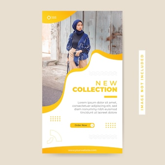 ミニマリストファッションセール新コレクションソーシャルメディア投稿、インスタレーションテンプレート