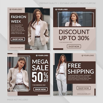 Minimalist fashion sale post template