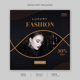 Minimalist fashion sale social media banner template