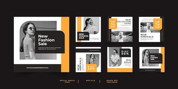 Minimalist fashion sale social media post template