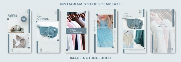 Minimalist fashion social media instagram stories banner template