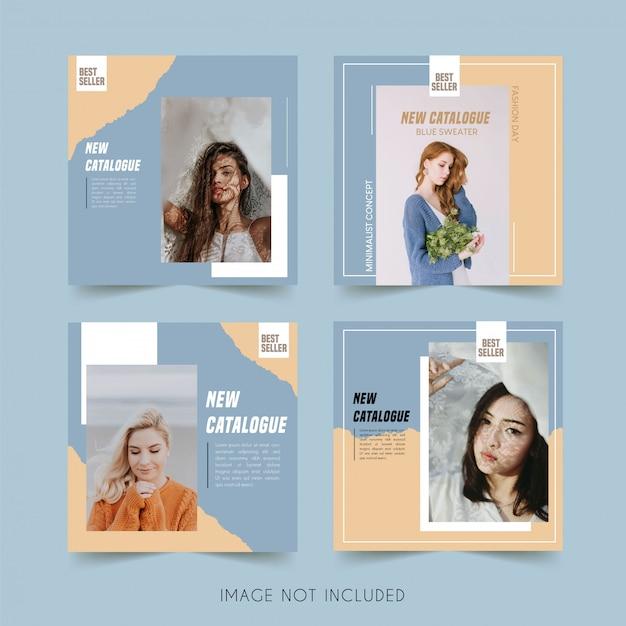 미니멀리스트 패션 소셜 미디어 인스 타 그램 템플릿 번들 게시물