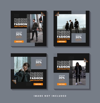 미니멀리스트 패션 소셜 미디어 게시물 템플릿 컬렉션