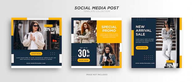Minimalist fashion social media post templates