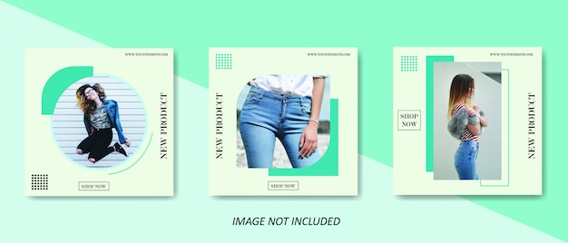 Minimalist fashion social media sale post template