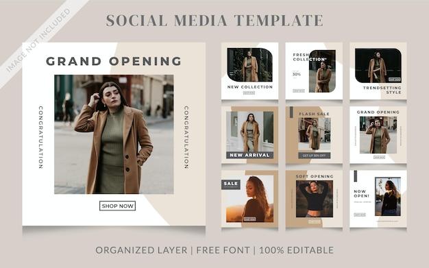 Minimalist fashion social media sale post template
