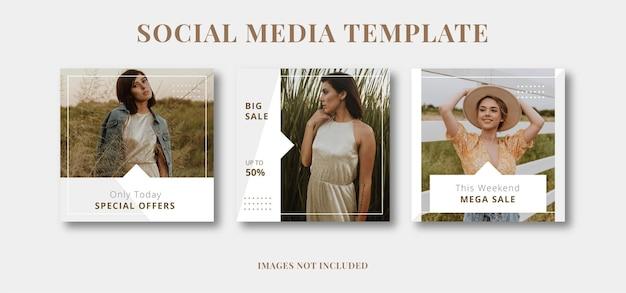 Minimalist fashion social media template