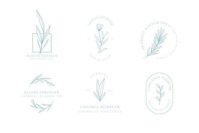 シンプルなフローラルロゴコレクション