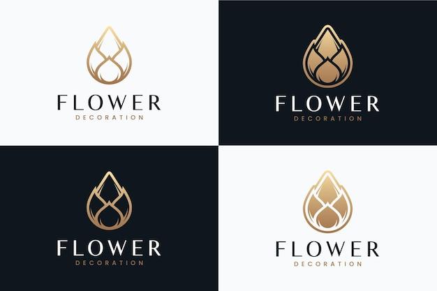 Минималистичный цветок, вдохновение для дизайна логотипа